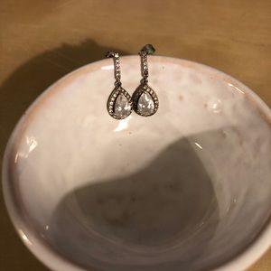 Dainty silver drop earrings